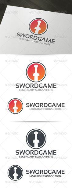 Sword Game Logo Template