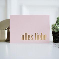 """Geburtstagskarte """"alles liebe"""" mit Prägung"""
