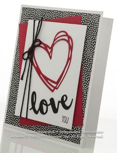 Very simple Valentine's greeting using the Sunshine Wishes framelits and the coordinating Sunshine Sayings stamp set Valentines Day Cards Handmade, Greeting Cards Handmade, Valentine Ideas, Valentine's Cards For Kids, Wedding Anniversary Cards, Wedding Cards, Heart Cards, Paper Cards, Creative Cards