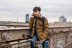 """Spotted: our Stapleton Tan jacket in """"It's Kind Of A Funny Story"""", the comedy–drama from acclaimed writer/directors Ryan Fleck & Anna Boden, starring Keir Gilchrist (here in the picture), Zach Galifianakis (recently seen in """"The Hangover"""" among others) and Emma Roberts."""