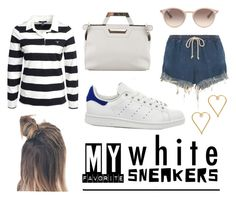 Fave white sneakers: my Stan Smiths by istyled on Polyvore featuring polyvore, fashion, style, GANT, Chloé, adidas, Balenciaga, Lee Renee, Ray-Ban and clothing