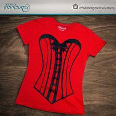 Playera con estampado estilo corset para despedida de soltera.