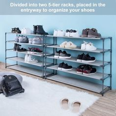 10 Tiers 50 Pair Stackable Shoe Rack Storage Shelves 50 Pairs Non-woven Fabric Shoe Tower Organizer Cabinet - Walmart.com - Walmart.com Shoe Storage Organiser, Shoe Rack Organization, Dresser Storage, Shoe Organizer, Storage Shelves, Narrow Shoe Rack, Large Shoe Rack, Narrow Shoes, Shoe Rack Closet