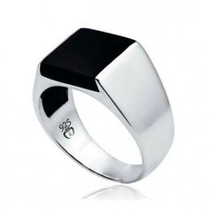 Black Onyx 925 Sterling Silver Top Quality Fancy Jewelry Engagement Wedding Two Ring Size 5 6 7 8 9 10 Black Onyx Stone Men Ring in Sterling Silver This sterling silver ring, from the Turk Collection, features a black onyx of x Men's Jewelry Rings, Sea Glass Jewelry, Diamond Jewelry, Jewellery Box, Silver Jewellery, Jewellery Packaging, Mens Silver Rings, Silver Man, Sterling Silver Jewelry