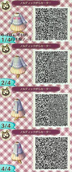 Animal Crossing: New Leaf - sweater dress QR-code