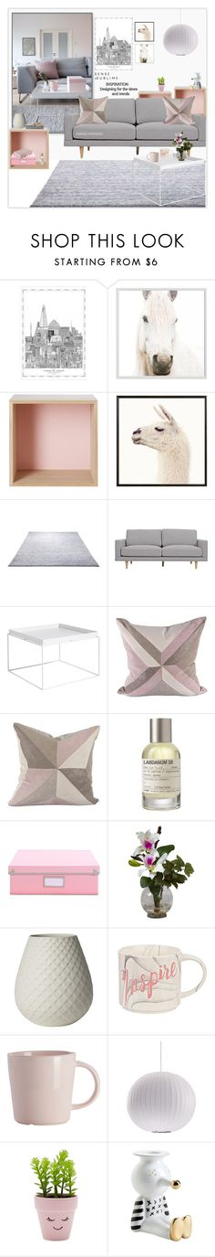 """Pink and Grey"" by rainie-minnie on Polyvore featuring interior, interiors, interior design, home, home decor, interior decorating, Pottery Barn, Muuto, ESPRIT and HAY"
