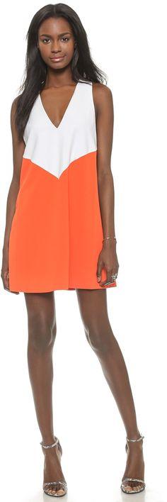 alice + olivia Maya Colorblock Trapeze Dress