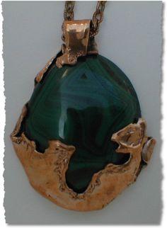 Copper & Malachite Lapidary Necklace