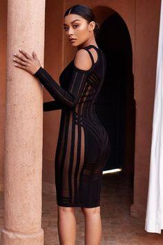 Eva Long Sleeve Bodycon Dress 7ab221183