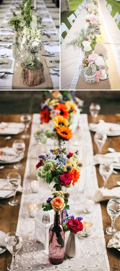 Como decorar mesas imperiales en bodas. Decoracion rustica y campestre