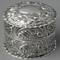 antique sterling silver ring box #SterlingSilverLove