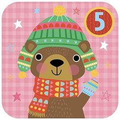 Advent 5 -cosy bear #adventchallenge2016 #advent #illo_advent #illustration #kidslitart #childrensillustration #bear #winteranimals #Christmas #winterhat #scarf #mittens