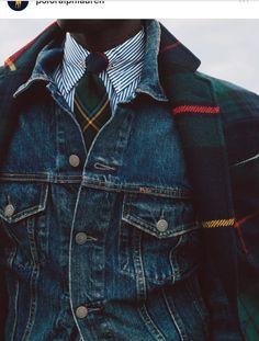 Amazing look for men Ralph Lauren Hombre, Polo Ralph Lauren, Preppy Men, Preppy Style, Denim Jacket Men Style, Plaid Jacket, Plaid Coat, Gilet Jeans, Mode Bcbg