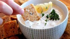 CLAM DIP-8oz Cream Cheese, can of minced clams, 1/4 c reserved clam juice, Tablespoon minced onion, 1-2 dashes garlic salt, 6 drops Tabasco
