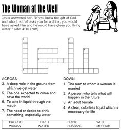 The Woman at the Well - Crossword Puzzle DAY 2