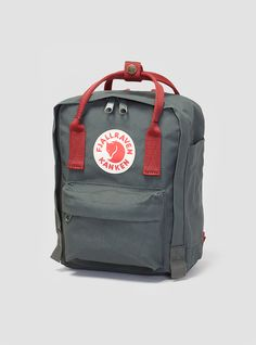 Kanken Mini Backpack Forest Green & Ox Red