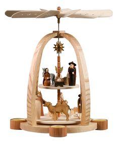 2-tier pyramid - for tealights - Nativity Scene - 41cm / 16 inch