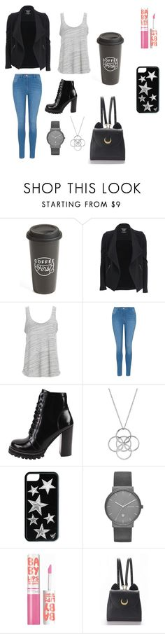 """modern, sade, klasik."" by egilide ❤ liked on Polyvore featuring The Created Co., Majestic Filatures, Project Social T, George, Jeffrey Campbell, Liwu Jewellery, Skagen, Maybelline, WithChic and modern"