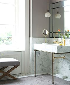 Sleek and pretty bathroom