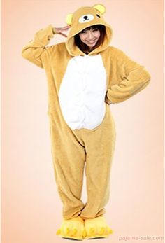 Relax bear Adult animals Onesie, kids animal onesies, Kigurumi costume