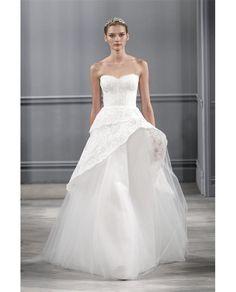 af21e7a3bd7 MONIQUE LHUILLIER  Azure  Bridal Gown Spring 2014