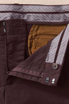 True Slim Chinos in Raisin  - Polka dot pocket bags