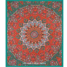 Large Multicolor Bohemian Boho Style Star Mandala Tapestry Wall Hanging Bedspread on RoyalFurnish.com, $19.69
