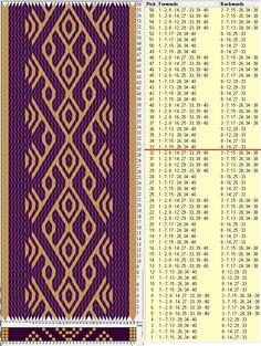 Variación 40 tarjetas, 2 colores, repite cada 32 movimientos // sed_155c diseñado en GTT༺❁