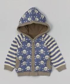 Loving this Wippette Blue Crossbones Zip-Up Hoodie - Infant & Toddler on #zulily! #zulilyfinds