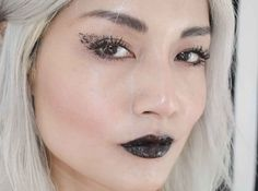 Pro tip: layer black gloss OVER black lipstick for extra depth of darkness