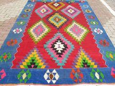 Turkish Kilim Rug Natural Wool 122 x 82 Natural Fiber Rugs, Natural Rug, Kilims, Turkish Kilim Rugs, Rugs On Carpet, Textiles, Kids Rugs, Wool, Patterns