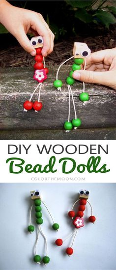 Woodworking For Kids These DIY wooden bead dolls are SO EASY to make and super adorable too! I can't wait to make them with the kids! - These DIY wooden bead dolls are SO EASY to make and super adorable too! I can't wait to make them with the kids! Wood Projects For Kids, Wood Projects For Beginners, Woodworking Projects For Kids, Diy Woodworking, Project Ideas, Pallet Projects, Woodworking Patterns, Woodworking Classes, Popular Woodworking
