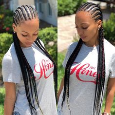 cornrows braided hairstyles 50 cornrow Hairstyles Trending in June Small Cornrows, Cornrows Braids For Black Women, Braids For Black Hair, Girls Braids, Kid Braids, Braids Cornrows, Long Cornrows, Black Hairstyle, Straight Back Cornrows