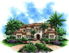 Mediterranean House Plan chp-37192 at COOLhouseplans.com - elevation