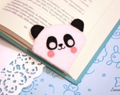 Cute panda felt corner bookmark, a sweet thought for who loves reading, gift idea