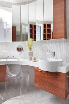 Rostill House contemporary-bathroom -  love the contemporary vessel sink