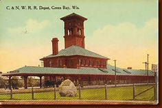 Chicago & NW Railroad depot in Green Bay, now Titletown Brewing. Construction began in the fall of 1898 and the depot was opened to the public on July 29,1899.
