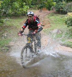 Me Mountain Biking in Chiang Mai, Thailand