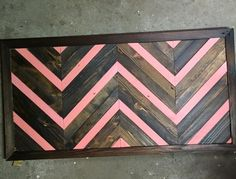 502 pallet project - Pallet wood chevron 24 x 48  #handmade #pallet #chevron #recycle #reclaimed #wallpanel #louisville