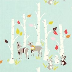 Baby+Woodland+Fabric | Fabric by ModeS Group Ltd