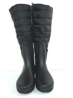 0807359a13145 Henry Ferrera Women s Puffer Down Quilted Winter Boots Black Size  8   HenryFerrera  WinterBoots