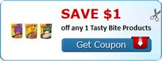 Save $1.00 off any 1 Tasty Bite Products