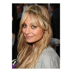 Nicole Richie Long, Blonde, Tousled Hairstyle via Polyvore