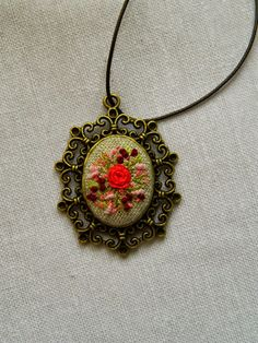 necklace hand made embroidery