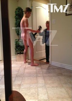 Justin Bieber with grandma standing there? ? really?