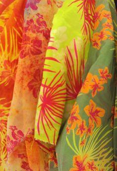 Helen Proudlock screen print floral tropical fashion