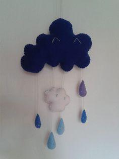 Il pleut ! Mobile goutte de pluie !