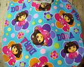 Bib for Baby or Toddler Dora the Explorer Handmade