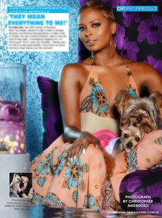 Time again for another installment of my OK! Pets page in OK! magazine. This week the very beautiful model Eva Marcille. I was really happy the way this photo turned out. Pick up a copy on stands today.