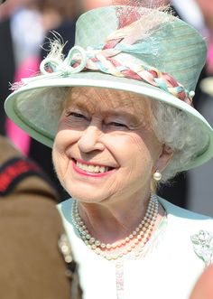 The Queen at a Buckingham Palace Garden Party 6 June 2013